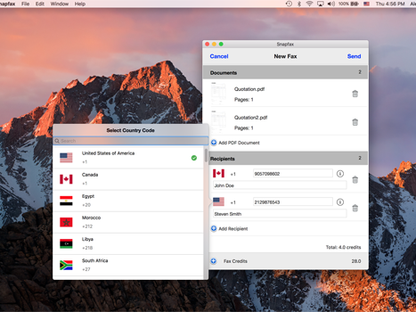 Screenshot of Snapfax for Mac